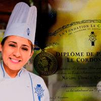 """""""Estudié para chef de pastelería en Le Cordon Bleu en el año 2018 y tengo dos restaurantes peruanos en Madrid. Hice el curso porque era algo refrescante para los otros cursos que he hecho. Me pareció que los vídeos eran bastante explicativos, la metodología es clara y los chefs tienen cercanía con los estudiantes."""""""